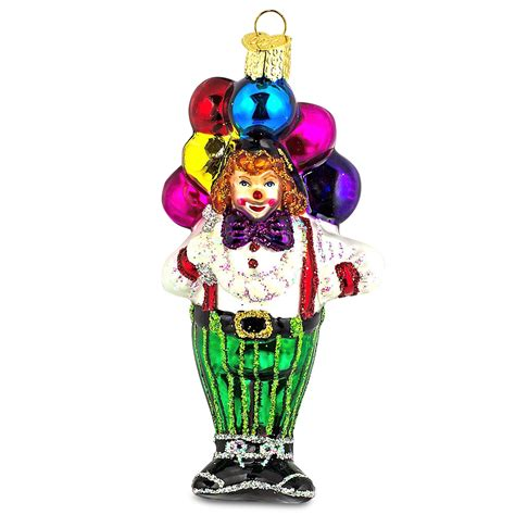 circus ornaments circus clown world glass ornament