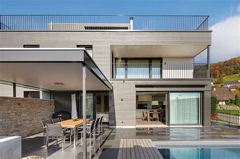 dachterrasse auf flachdach bauen das einfamilienhaus architektenh 228 user aussen design idee