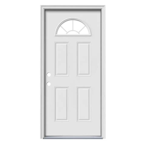 Reliabilt Exterior Doors Shop Reliabilt Decorative Glass Right Inswing Steel Primed Entry Door Common 36 In X 80