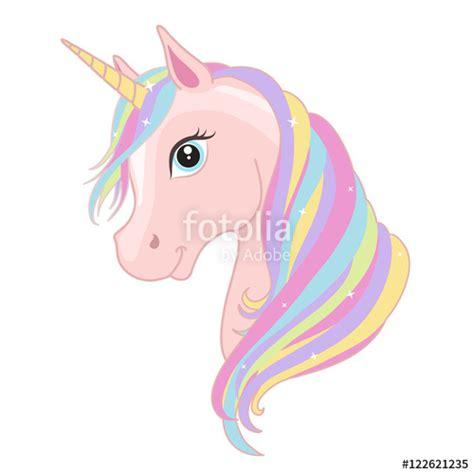 Rainbow Unicorn Palleta 12 Colour quot pink unicorn with rainbow mane and horn isolated on