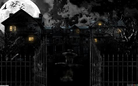 x haunted house haunted house wallpaper 18362 open walls
