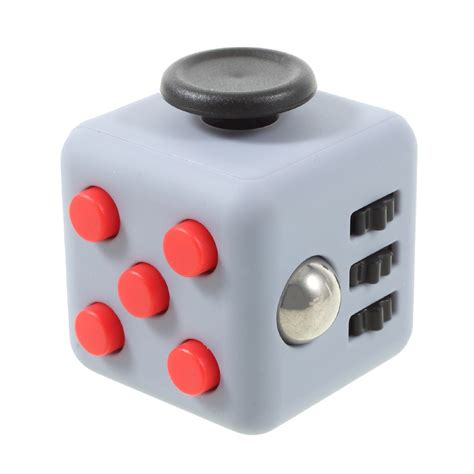 fidget cube penghilang stress fidget cube anti stress anxiety reliever play grey