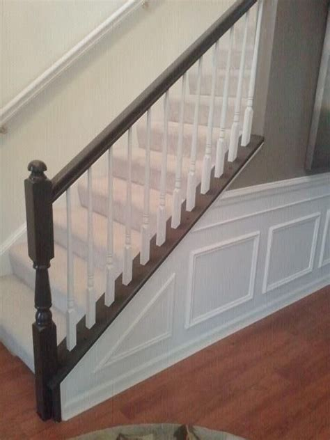 painting banister spindles painting the chair railing painting stairs railings and