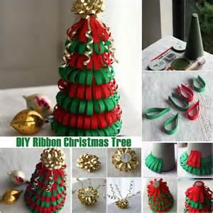 Diy ribbon christmas tree diy ideas by you