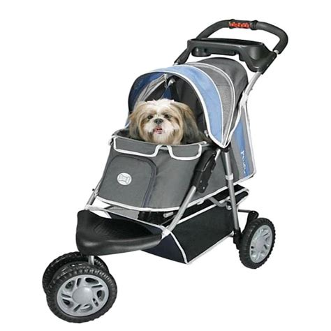 puppy stroller stroller sporty 3 wheeled blue strollers at glamourmutt