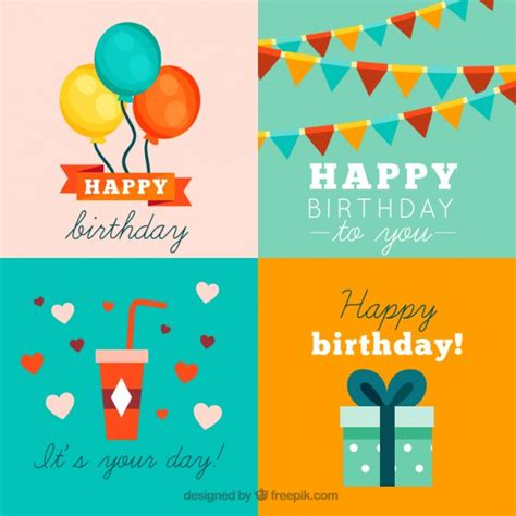 happy birthday design ai happy birthday cards collection vector free download