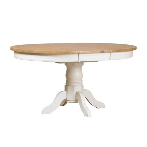 Buy St Ives Round Pedestal Dining Table Painted Oak Extending Pedestal Dining Table