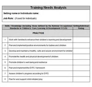 simple needs analysis template sle needs analysis template 10 documents in