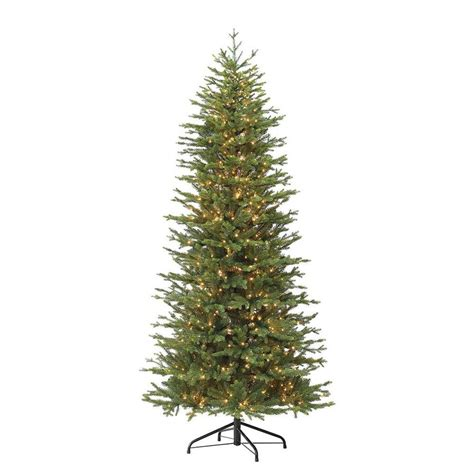 bradford pine miracle christmas tree by puleo puleo international 7 5 ft pre lit flocked artificial tree with 800 constant warm