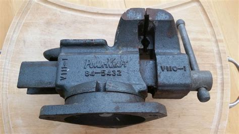 milwaukee bench vise vintage milwaukee tool co powr kraft bench vise swivel