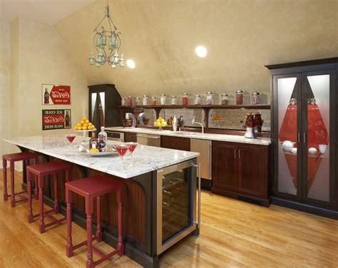 kitchen snack bar ideas fridge decoration ideas home bar eclectic with wine refrigerator open shelves bar counter