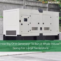 how big of a generator to run a whole house going for