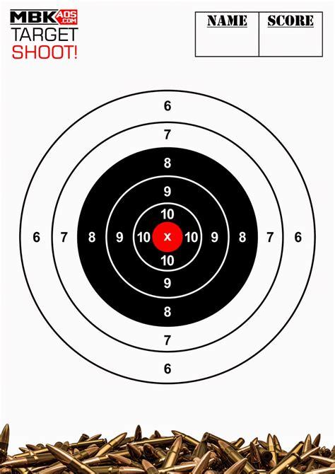 Sasaran Tembak Shooting Target Paper Circle shooting targets paper protected saw ml