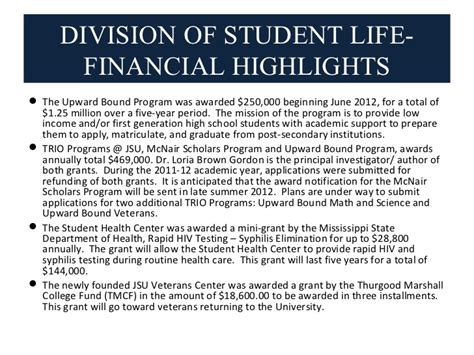 Jsu Mba Program by Divison Of Student 2011 2012 Annual Report
