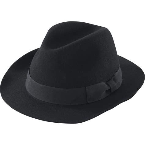 uniqlo idlf felt fedora hat in black lyst