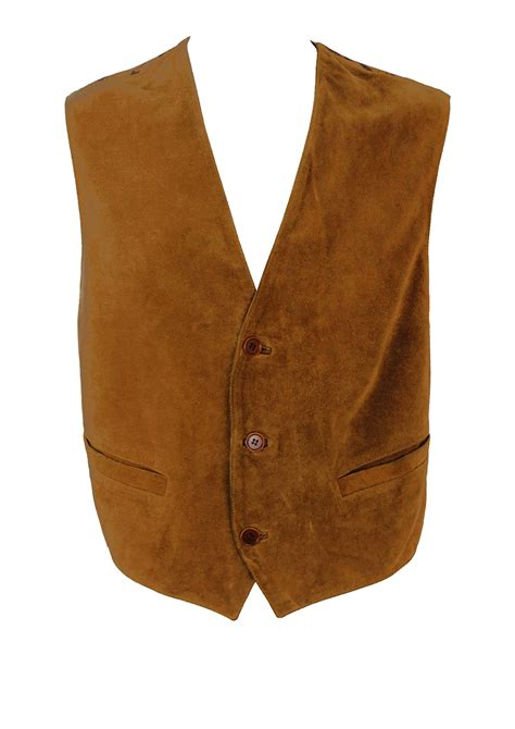 vomiting camel pattern in gold camel coloured suede waistcoat with equestrian pattern m