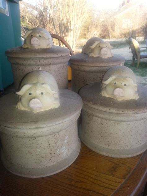 pig kitchen canisters 360 best this piggy images on
