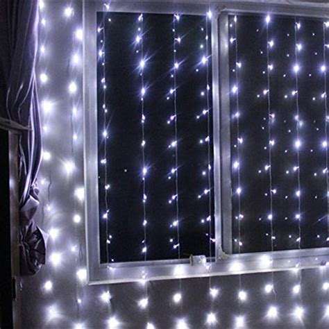 led wall curtain battery operated 300 led curtain string lights w remote