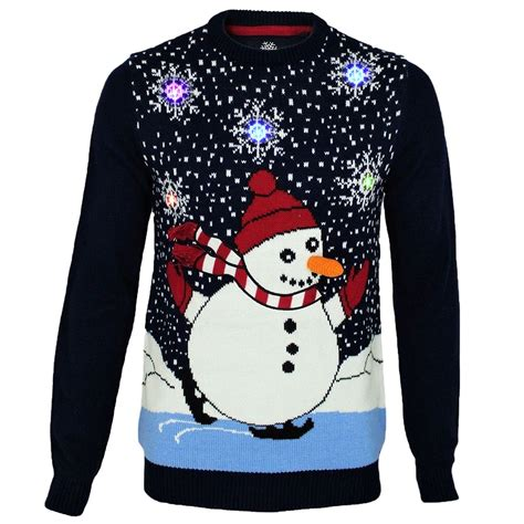 mens threadbare light up christmas novelty jumper 3d