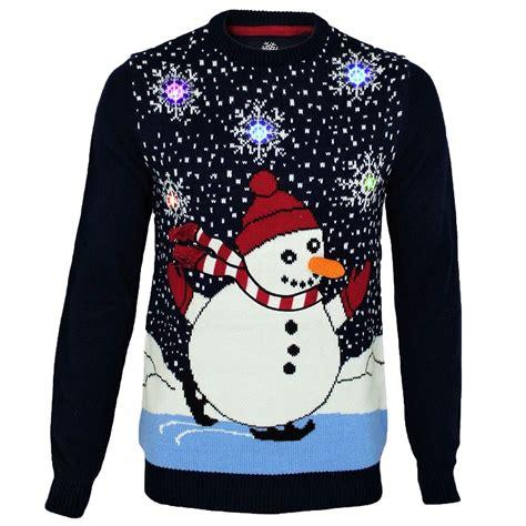 mens threadbare light up christmas novelty jumper 3d
