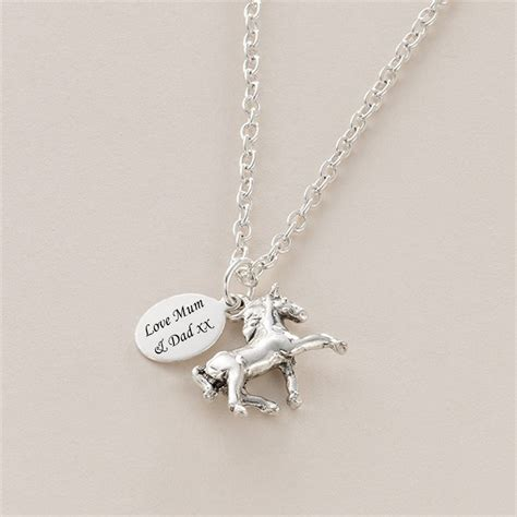 engraved necklace with charm charming engraving