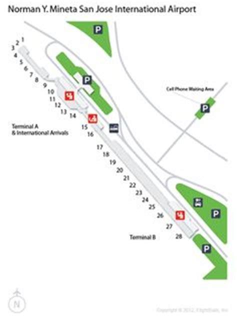 san jose international airport route map bna nashville international airport terminal map