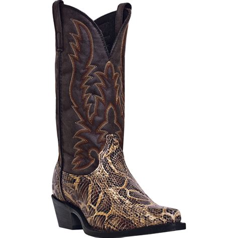 laredo mens brown snake print pythonda snip toe 12 034