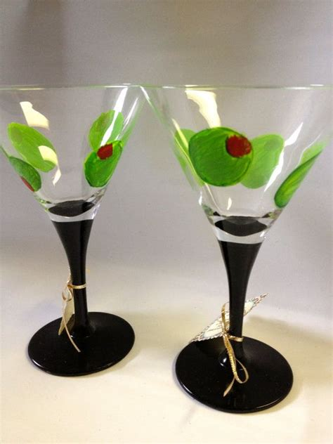 martini glass painting painted martini glasses custom personalized martini