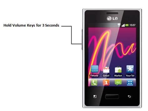 how to take screenshot on lg optimus l3 e400 android phone