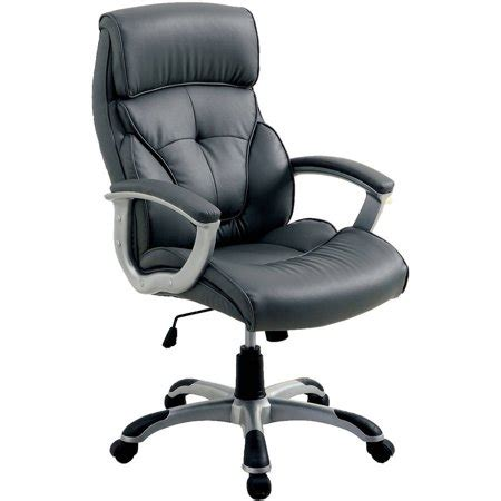 plush office chair furniture of america galsin plush faux leather office
