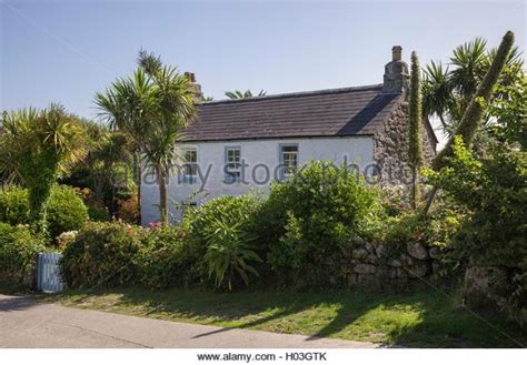 Isles Of Scilly Cottages by Scillonian Stock Photos Scillonian Stock Images Alamy