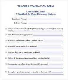 evaluation of teachers performance template evaluation form 8 free sles exles formats