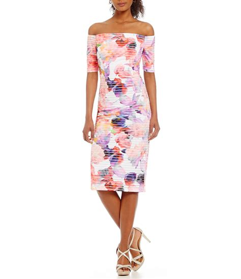 Shoulder Floral Sheath Dress times the shoulder floral sheath dress dillards
