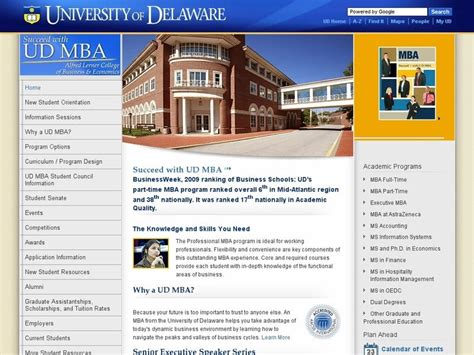 School Of Economics Mba Acceptance Rate by Of Delaware Alfred Lerner College Of Business