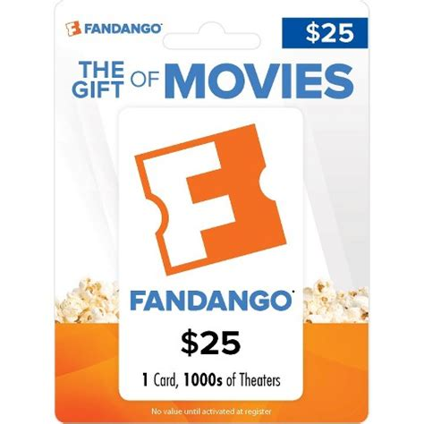 Movie Gift Card - fandango movie gift card 25