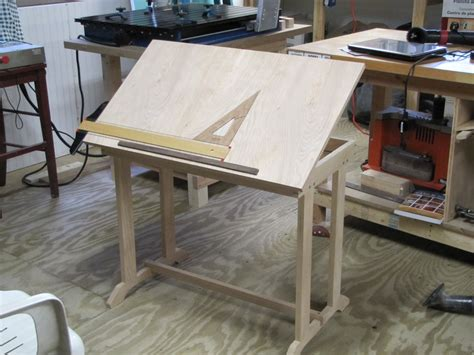 Shop Computer Drafting Table By Slimt Lumberjocks Diy Drafting Desk