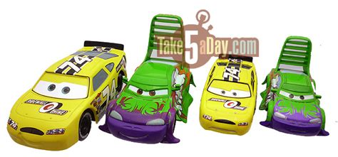 disney pixar cars disney store moderify tuners bright shiny and all aglow take five a day