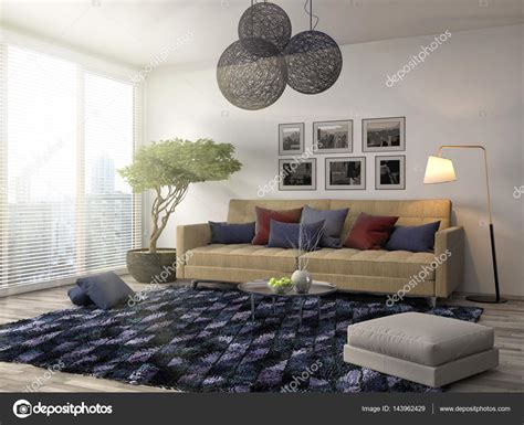 interieur canape int 233 rieur avec canap 233 illustration 3d photo 143962429