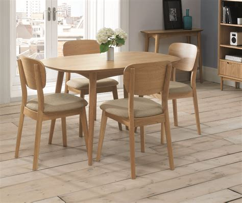 Stockholm 4 Seat Oak Dining Table Sofa Concept 4 Seat Dining Table