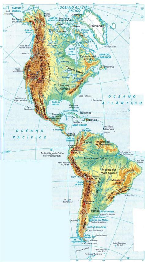 america mapa nombres mapa de america con nombres mapa f 237 sico geogr 225 fico