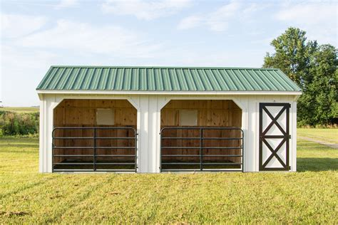 How To Build A Run In Shed For Horses by 12x24 Barn Run In Shed With Gates And Tack Room