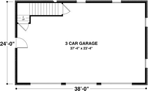 three car garage floor plans brick 3 car garage with storage above 20053ga cad
