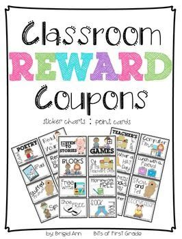 Get Rewarded For Healthy Behavior by Reward Coupons Classroom Management Primary Materials
