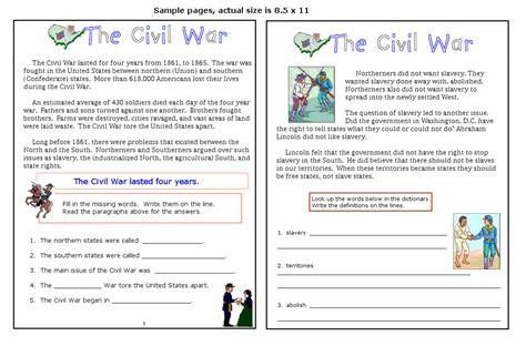 civil war 8th grade reading worksheets civil war timeline worksheet worksheets