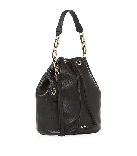 Karl Lagerfeld Says Get A Bag Perhaps From His New Purse Line by Karl Lagerfeld Grainy Leather Bag In Black Lyst
