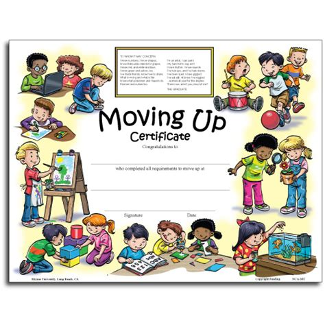 moving up certificate templates kindergarten diploma clipart best