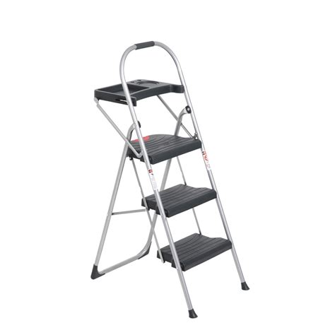 3 step steel step stool shop werner 3 step steel step stool at lowes