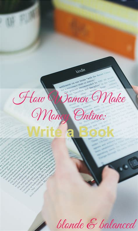 Make Money Online Books - how women make money online write a book blonde balanced