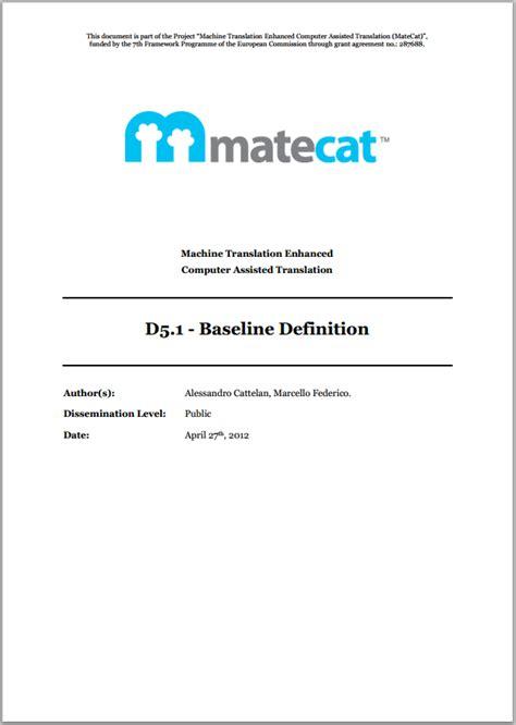 design baseline meaning d5 1 baseline definition archives matecat