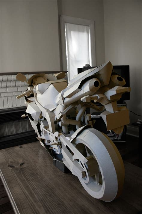 Papercraft Yamaha - papercraft cardboard motorcycle on behance